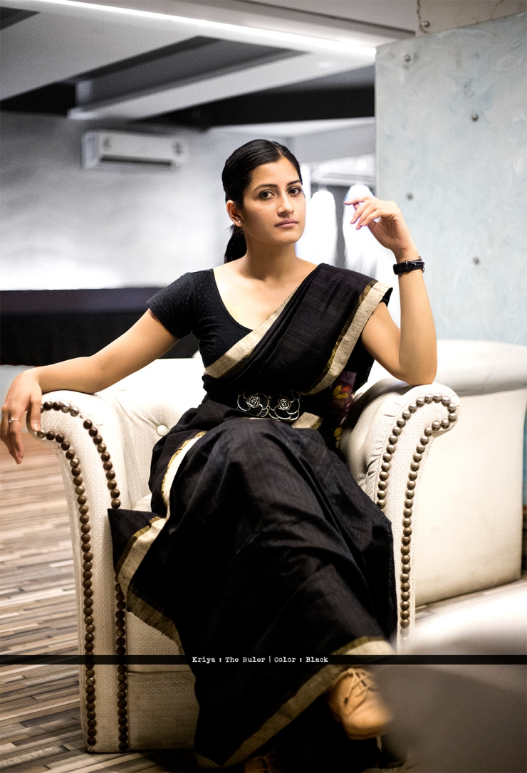 advi_saree_sari_blouse_indian_ethnic_bindigasm_stretchable_lycra_kriya_corporate_black_dobby_cotton_1