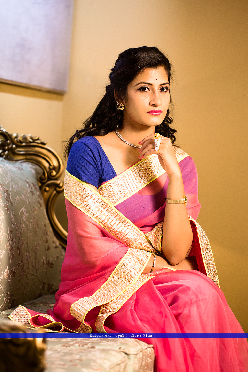 advi_saree_sari_blouse_indian_ethnic_bindigasm_stretchable_lycra_kriya_dreamer_blue_dobby_cotton_1